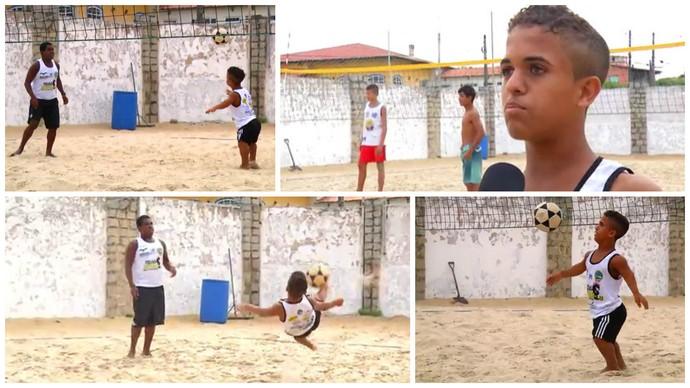 Cristian Lima anão futevôlei (Foto: Reprodução)