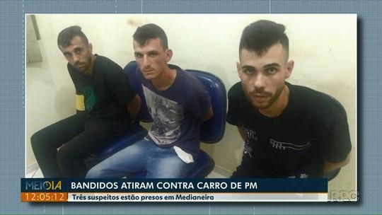 Três homens são presos suspeitos de tentar assaltar policial militar