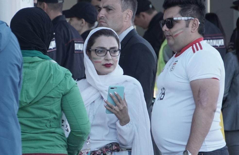 Torcedoras do Irã (Foto: Luis Fernando Soncini / TV Globo)