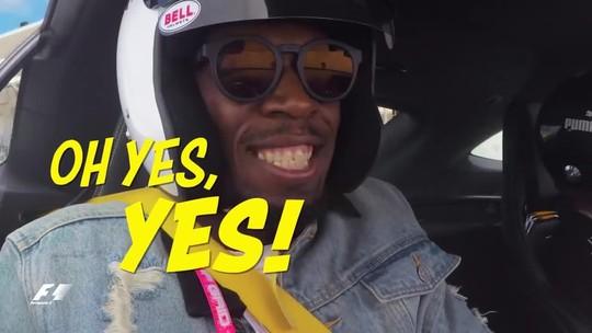 Vídeo: vá de carona com Bolt e Hamilton em volta rápida no palco do GP dos EUA