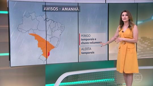 Temporais são esperados em quatro das cinco regiões brasileiras