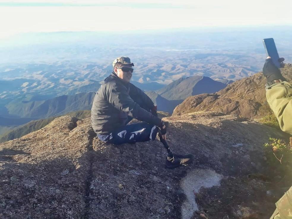 Denilson no Pico dos Marins em Piquete (Foto: Arquivo Pessoal)