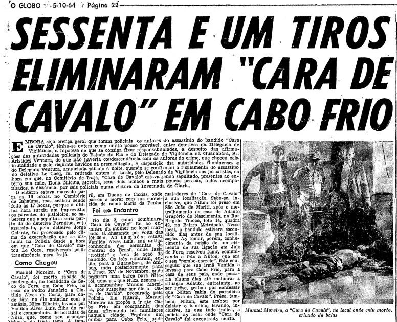 Página da edição de O GLOBO de 5 de outubro de 1964