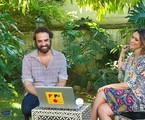 Marcelo Camelo e Sarah Oliveira na casa do cantor | Divulgação