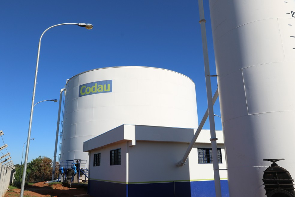 Centro de Reservação de água da Vila Ozanan em Uberaba — Foto: Codau/Divulgação