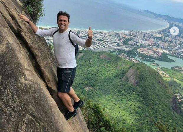 Petkovic escalou a Pedra da Gávea, no Rio (Foto: Reprodução Instagram)