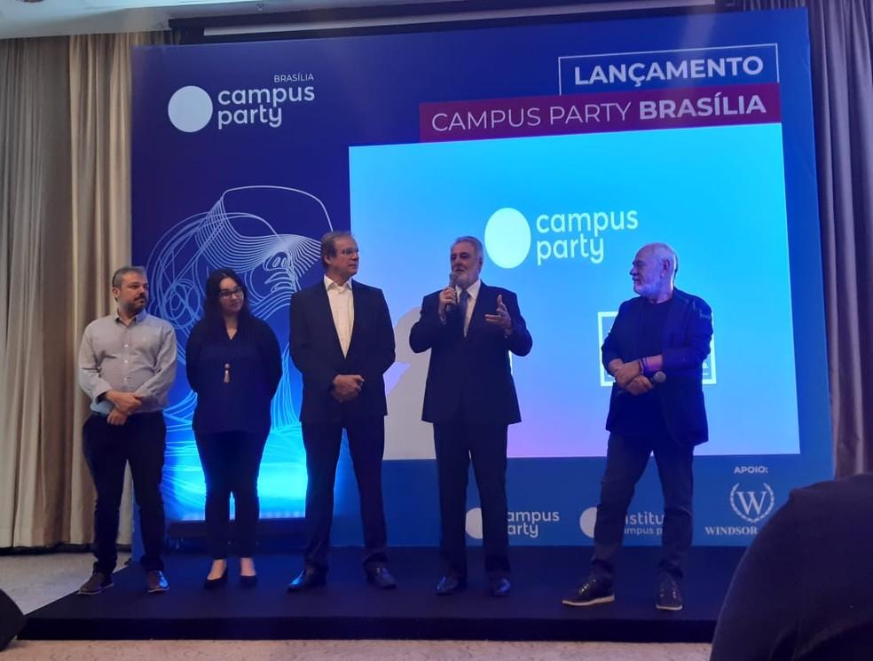 Organizadores da Campus Party anunciam 4ª edição do evento em Brasília  — Foto: Carolina Cruz/G1