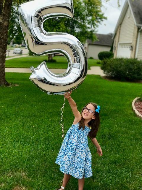 Peyton comemorando seu aniversário de 5 anos (Foto: Reprodução Facebook)