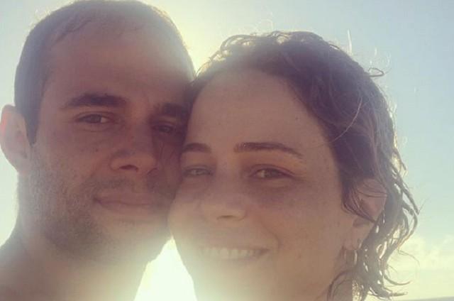 Leandra Leal com o marido, Guilherme Burgos (Foto: Reprodução)