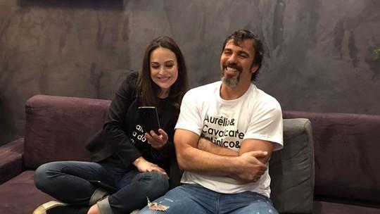 Gabriela Duarte e Marcelo Faria falam sobre primeira vez de #Aurieta: 'Cena delicada'