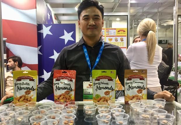 Danny Yoo, manager de vendas e marketing da TeaAroma  (Foto: Mariane Reghin)