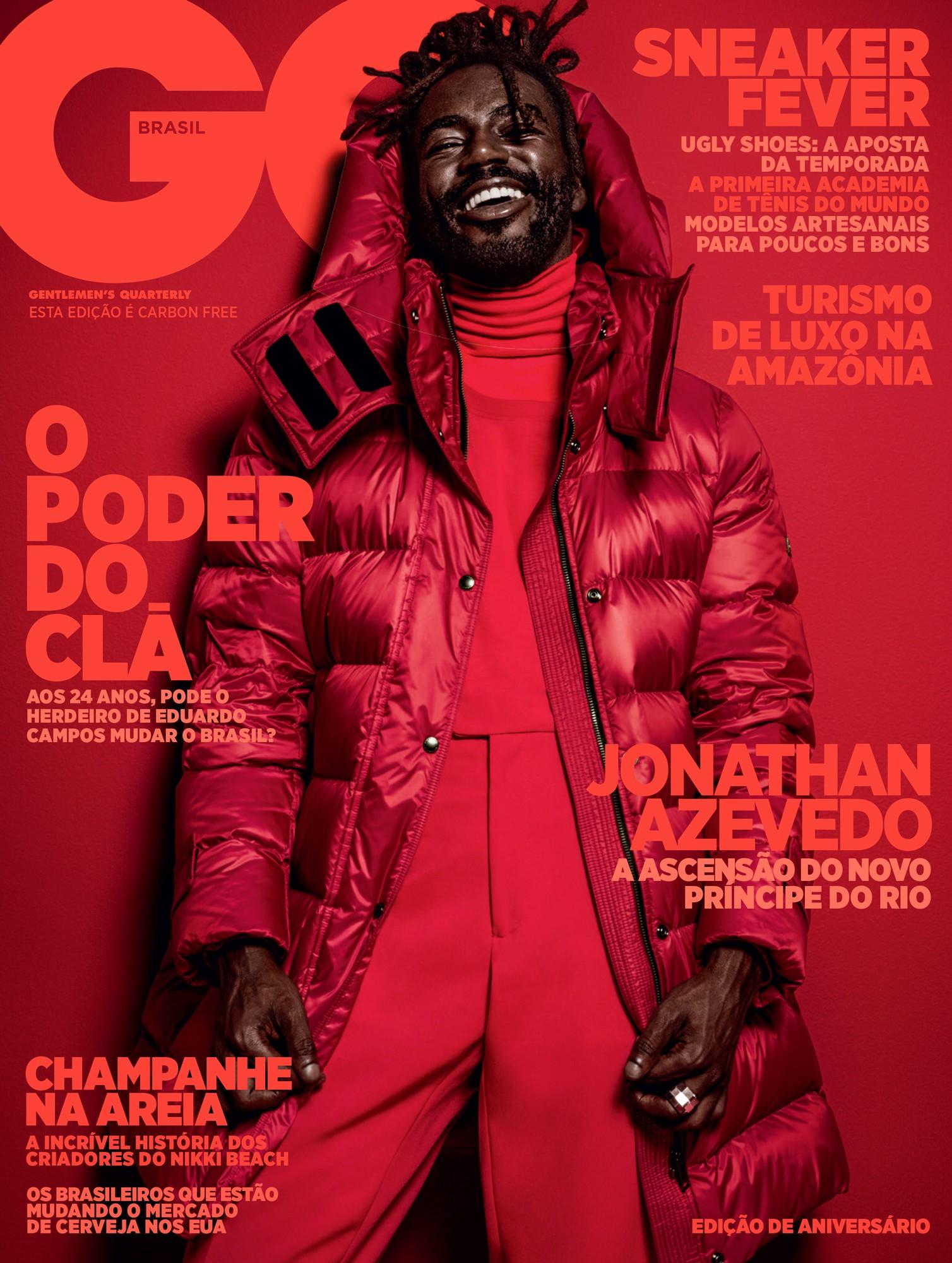 Jonathan na capa da GQ de maio, nossa edição de aniversário (Foto: Pedro Dimitrow / Arte GQ)