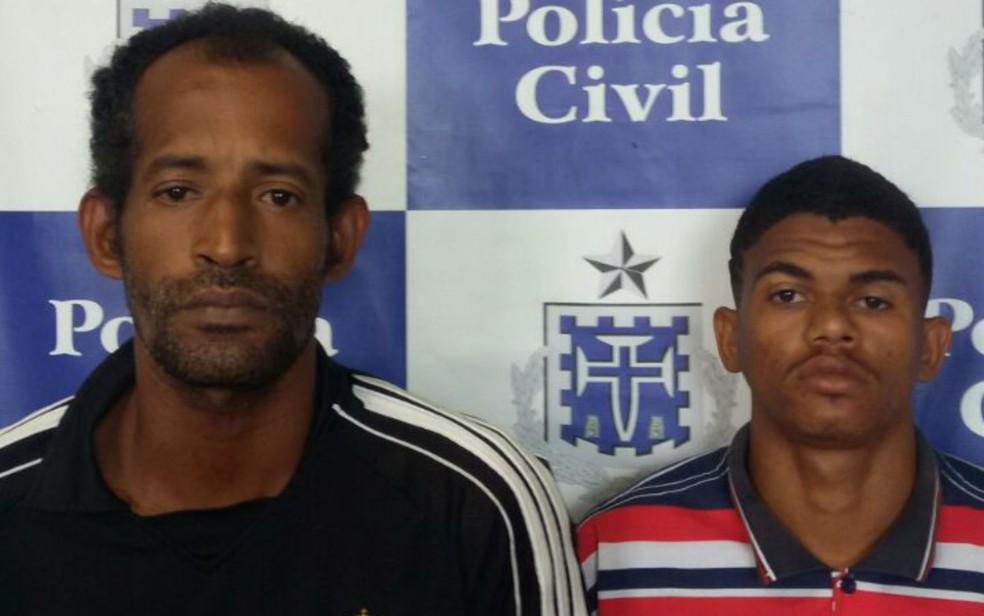 Dupla foi presa suspeita de estuprar mulher na Estrada das Barreiras, em Salvador (Foto: Divulgação/SSP)