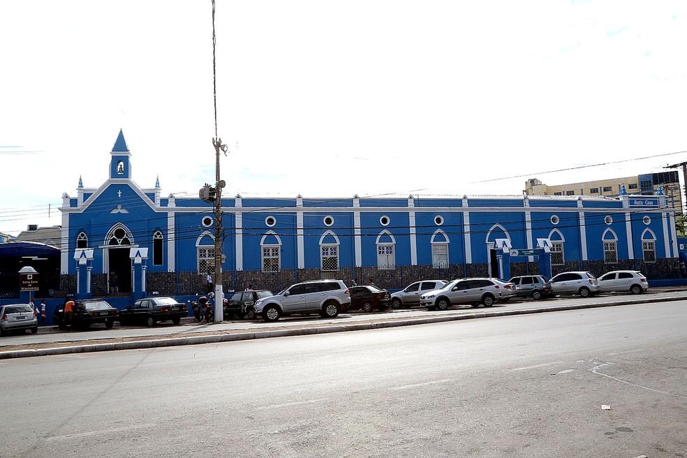 Santa Casa de Misericórdia, em Cuiabá, suspendeu os atendimentos — Foto: Lenine Martins/Secom-MT