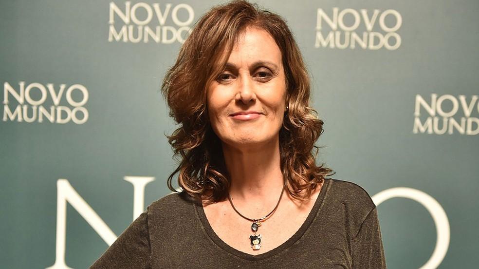 Márcia Cabrita no lançamento da novela 'Novo Mundo', seu trabalho mais recente. (Foto: Mauricio Fidalgo/GShow)