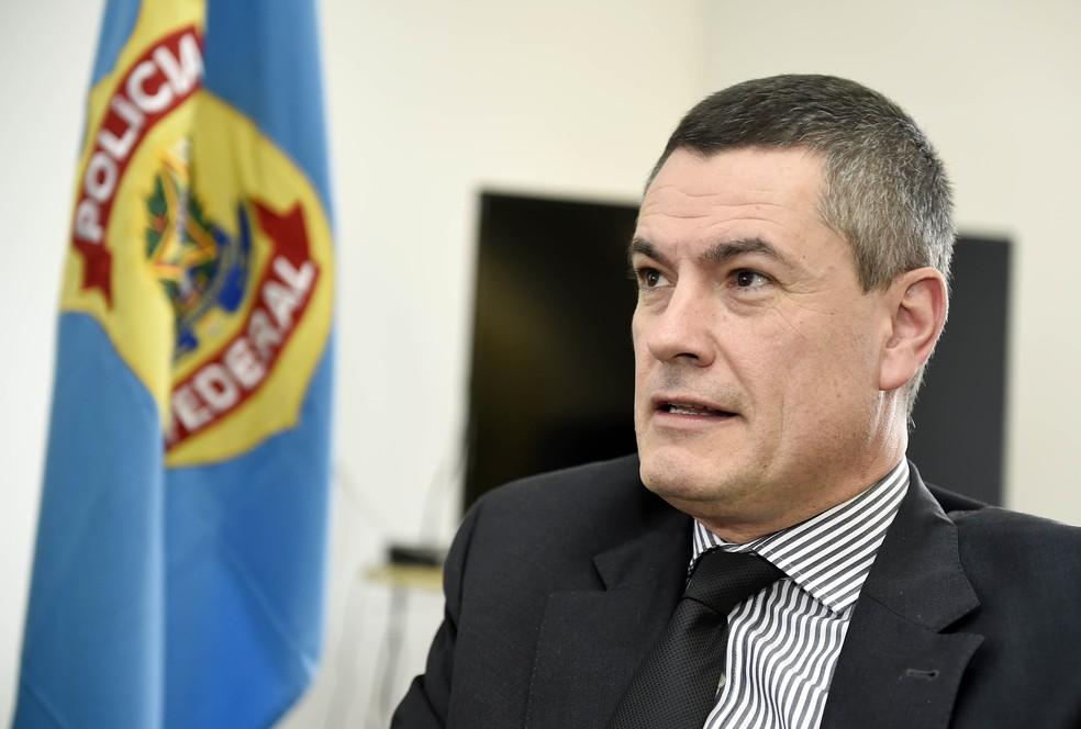 Maurício ValeMaurício Valeixo, exonerado do cargo de diretor-geral da PF, em foto de 10 de janeiro de 2018, na sede da PF em Curitiba — Foto: DENIS FERREIRA NETTO/ESTADÃO CONTEÚDO