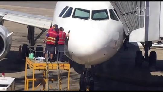 Avião da Latam se choca com pássaro durante pouso no Aeroporto de Brasília