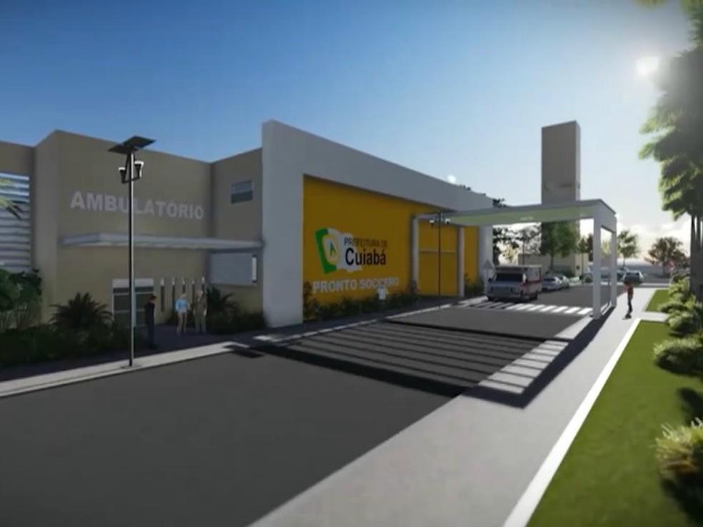 Verba para novo PS de Cuiabá deverá ser viabilizada com governos federal e estadual. — Foto: Prefeitura de Cuiabá / Divulgação