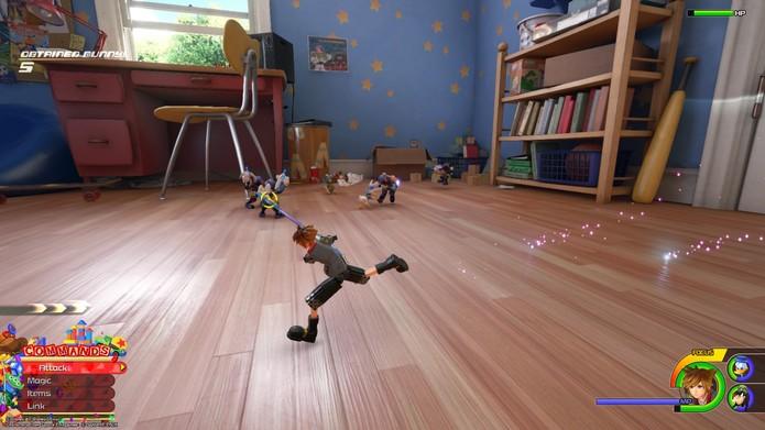 Sora doit vaincre Heartless dans Kingdom Hearts 3 (Photo: Reproduction / Murilo Tunholi)