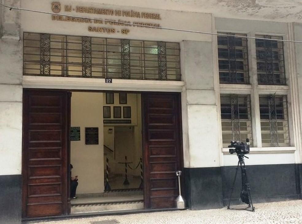Caso é investigado pela equipe da Delegacia da Polícia Federal em Santos, SP (Foto:  João Paulo de Castro/G1)