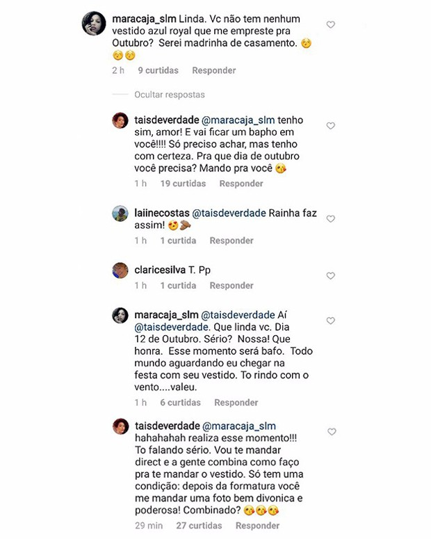 Taís Araújo empresta vestido para seguidora (Foto: Reprodução/Instagram)