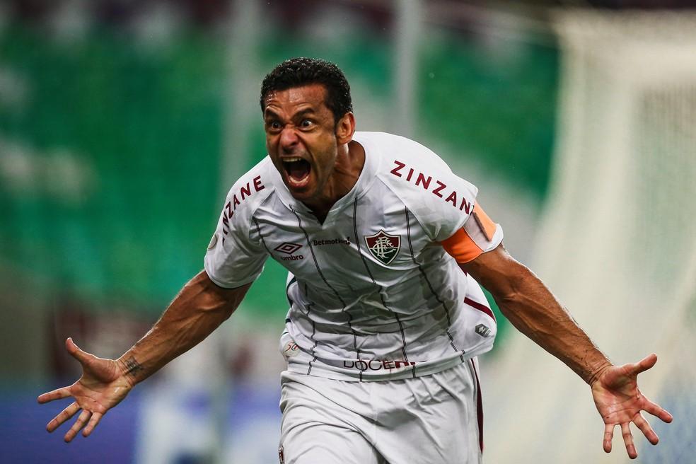 Fred marcou 10 gols desde que voltou ao Fluminense — Foto: Lucas Merçon / Fluminense FC