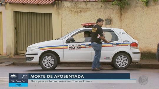 Casal suspeito de matar idosa é preso pela polícia em Campos Gerais, MG