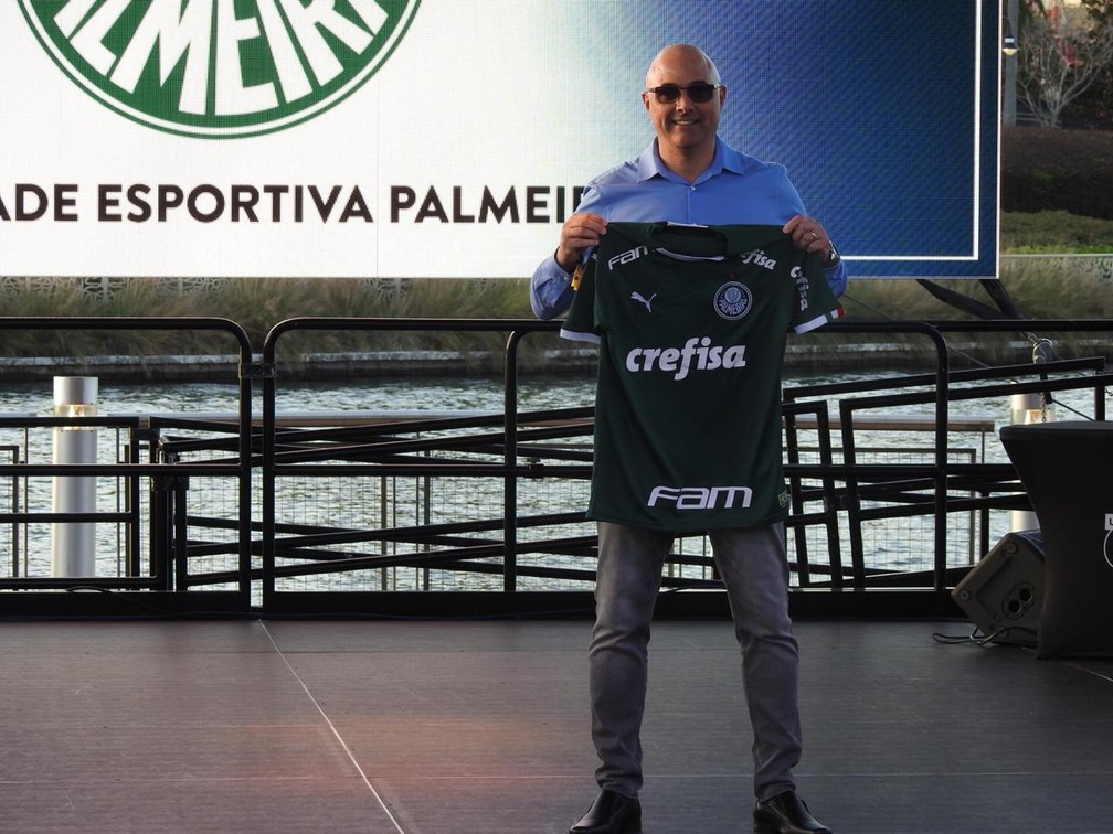 Maurício Galiotte, presidente do Palmeiras, na Flórida — Foto: Felipe Zito