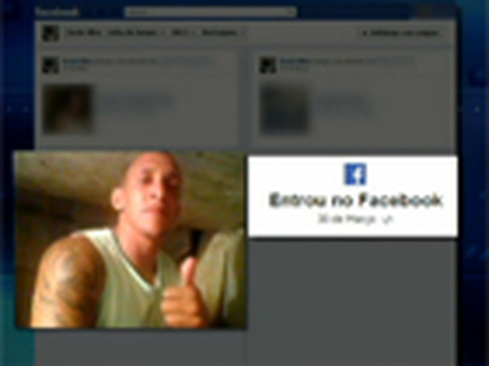 Preso que teria usado Facebook em Bangu 3 presta depoimento no Rio (Foto: Reprodução / TV Globo)