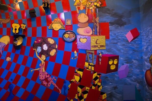 Exposição lúdica d'OSGEMEOS, com inflável de 17 metros, marca reabertura da Pinacoteca de SP (Foto: Levi Fanan / Divulgação)