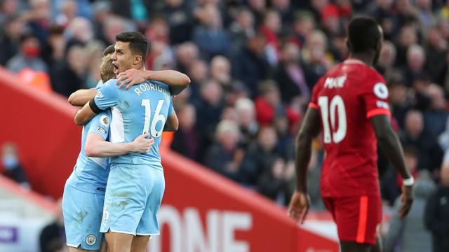 Manchester City consegue o empate com o Liverpool em Anfield Road