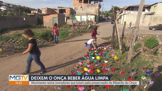 Movimento reúne moradores que lutam pela preservação do Ribeirão do Onça