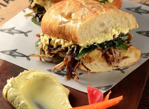 Famoso sanduba apelidado de Big Pig, do MeGusta Bar (Foto: Wellington Nemeth/Divulgação )