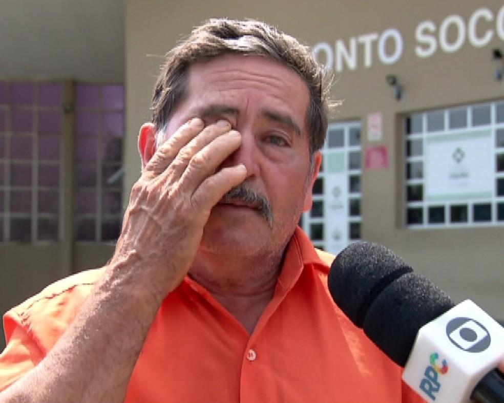 Luiz perdeu o filho, o neto e o irmão no acidente — Foto: Reprodução/RPC