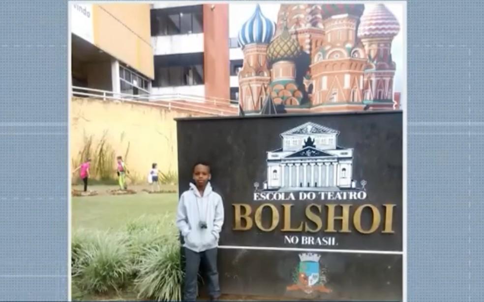 Jhonatan durante as seletivas em Joinville, em Santa Catarina — Foto: Reprodução/TV Bahia
