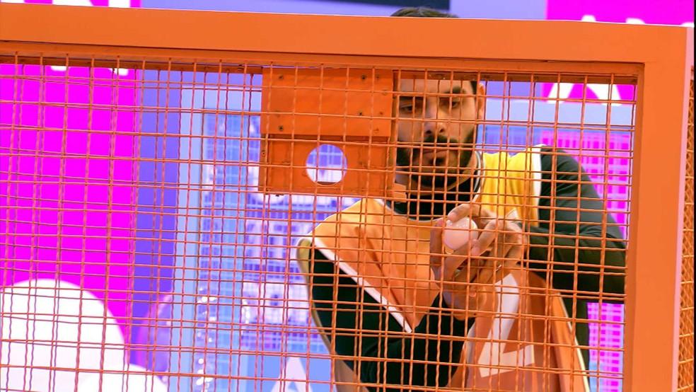 BBB21: Rodolffo é o primeiro classificado da segunda rodada — Foto: Globo