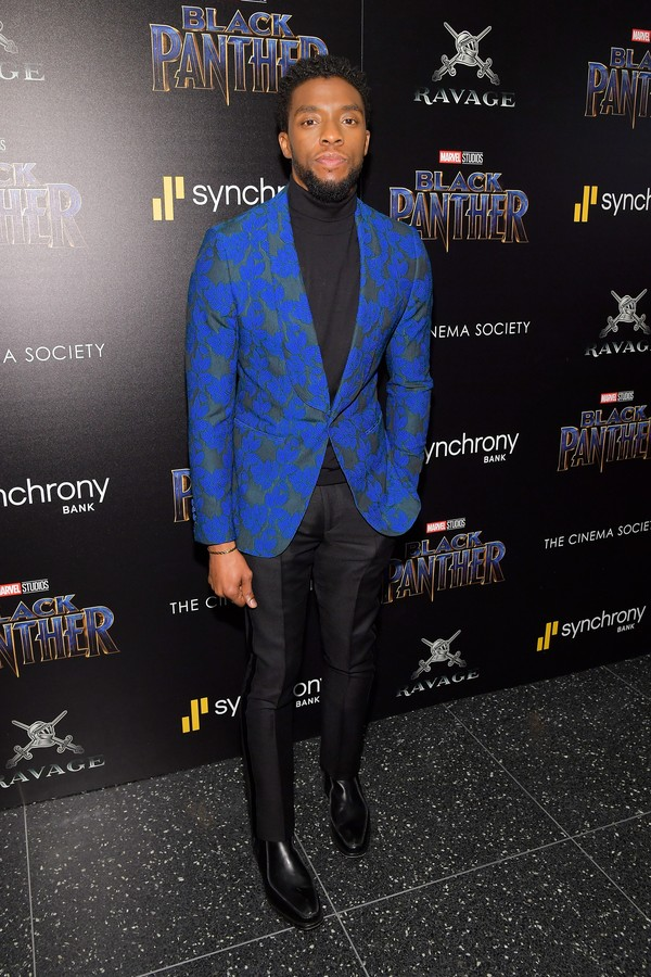 "NEW YORK, NY - FEBRUARY 13:  Actor Chadwick Boseman attends the screening of Marvel Studios' ""Black Panther"" hosted by The Cinema Society on February 13, 2018 in New York City.  (Photo by Roy Rochlin/Getty Images) (Foto: Getty Images)"