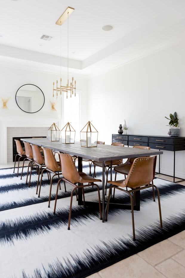 Décor do dia: sala de jantar neutra com toque tribal (Foto: Amy Bartlam)