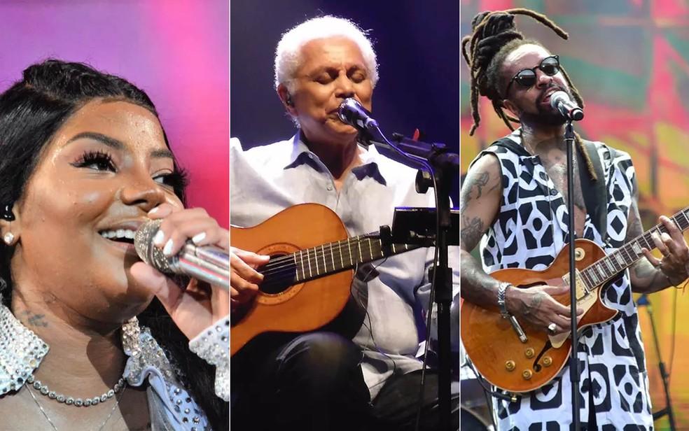 Ludmilla Paulinho da Viola, e Rael — Foto: Jorge Hely/Estadão Conteúdo;  Mauro Ferreira/G1; Max Haack/Ag. Haack
