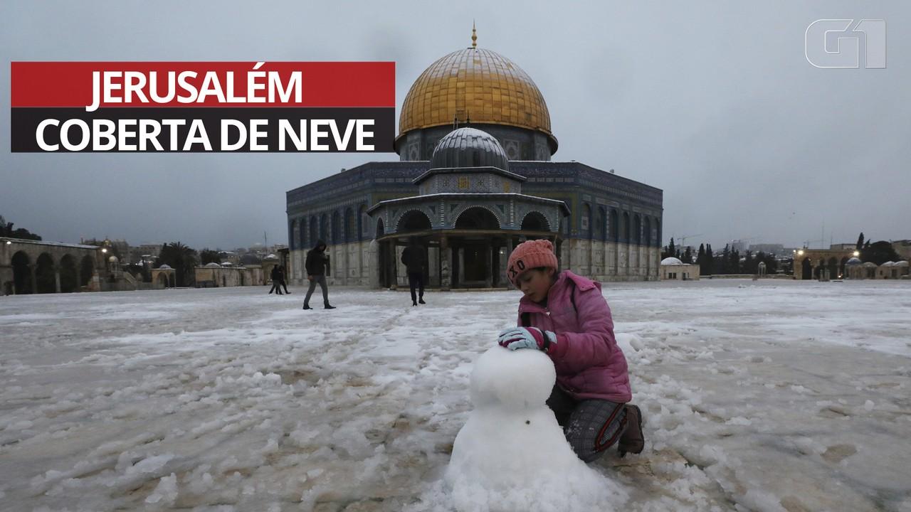 VÍDEO: Neve muda paisagem e diverte moradores e turistas de Jerusalém