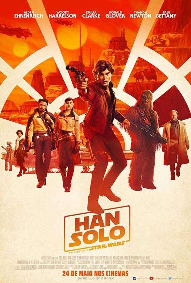 No novo pôster de Han Solo (Foto: Divulgação/Disney)