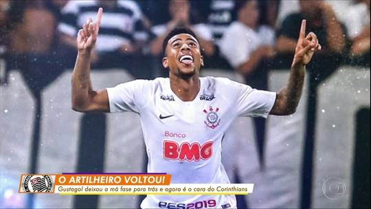 Ex-técnicos de Gustagol, Ceni e Hélio dos Anjos explicam evolução do atacante no Corinthians