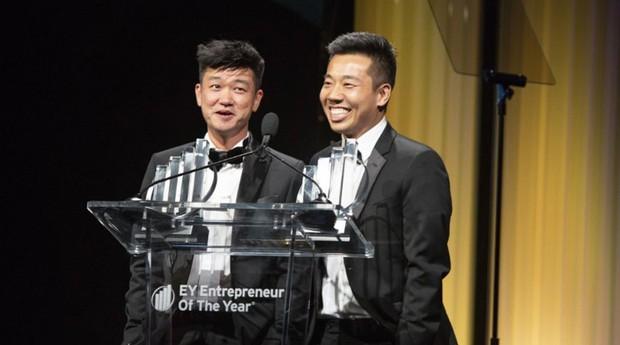 Os amigos Eddy Lu e Daishin Sugano (Foto: Divulgação )
