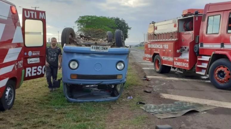 Morre homem vítima de acidente envolvendo caminhão e Kombi na  Washington Luís em Ibaté