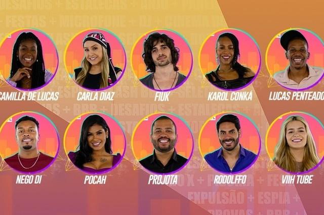 Participantes do grupo camarote, do 'BBB' 21 (Foto: Globo)