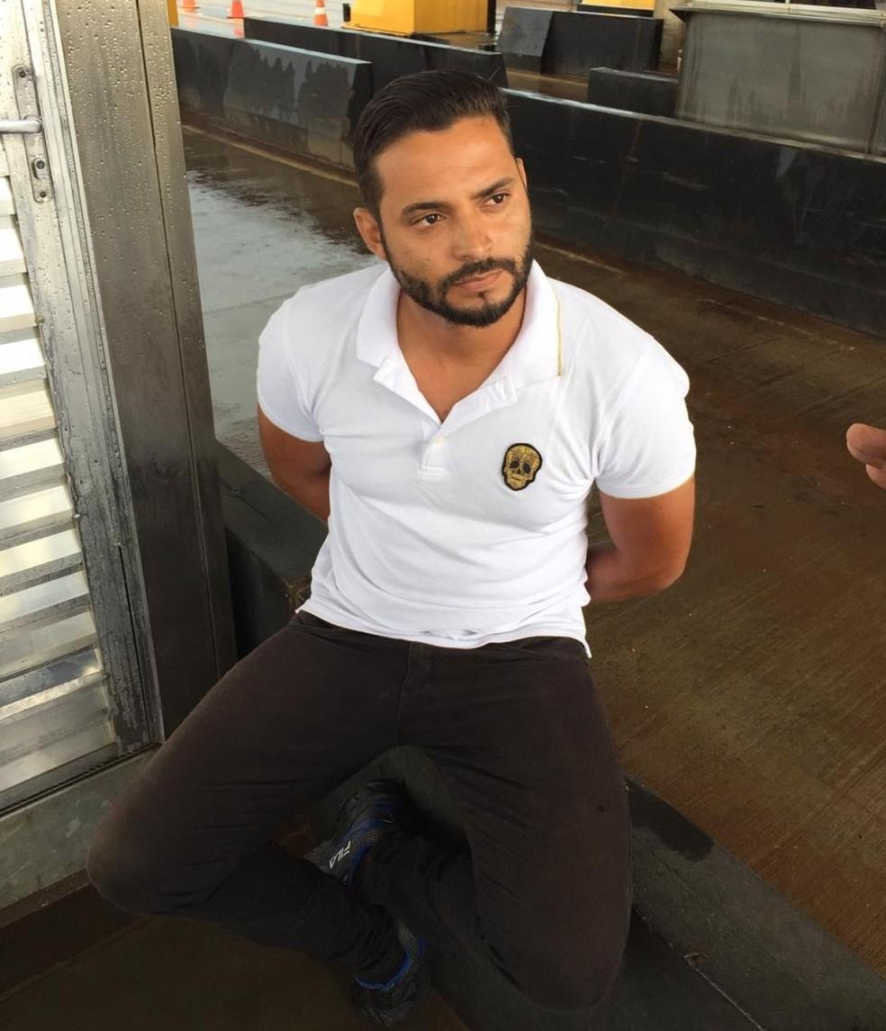 Rodrigo José Pozzer foi preso na praça de pedágio da BR-163 em Sorriso — Foto: Polícia Civil de Mato Grosso/Assessoria
