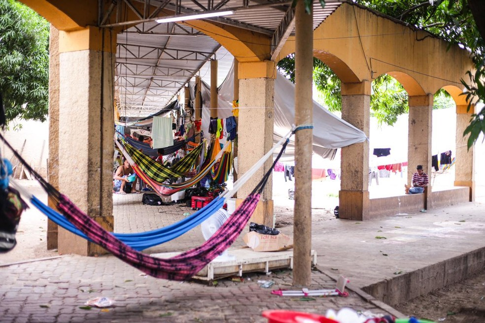 Abrigo de venezuelanos em Teresina — Foto: Divulgação/Prefeitura de Teresina