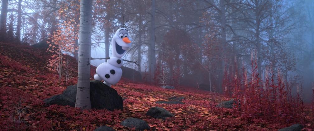 """Olaf em cena de """"Frozen 2"""" — Foto: Divulgação/Disney"""