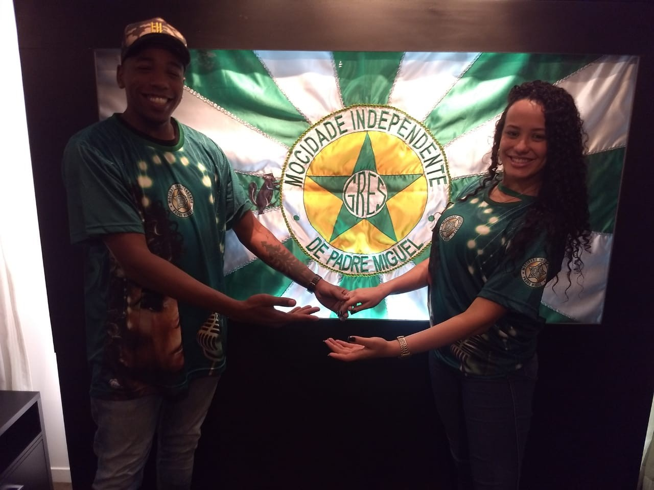 Diogo Jesus e Bruna Santos: novo casal da Mocidade Independente de Padre Miguel