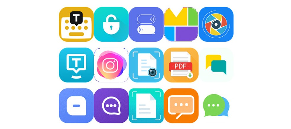 Ícones dos apps removidos da Play Store após análise da Zscaler — Foto: Zscaler/Reprodução